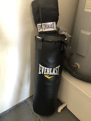Everlasting Brand/ Exercise/ Boxing New Punching bag with accessories for Sale in Round Rock, TX