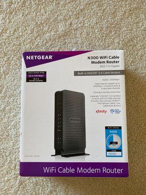 Netgear wi fi cable modem router for Sale in Arlington, VA
