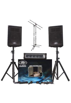 Peavey Audio Performer Pack PA System with Mixer, 2 Mics, 2 XLR Cables, 2 Speaker Stands and 2 Mic for Sale in Columbus, OH