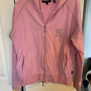 Woman's Size Large Bcbg Pink Hoodie Zip Up for Sale in Las Vegas, NV