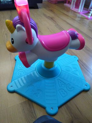 Fisher Price Bounce n spin unicorn. Very clean and good condition. Only used it twice for Sale in El Cajon, CA