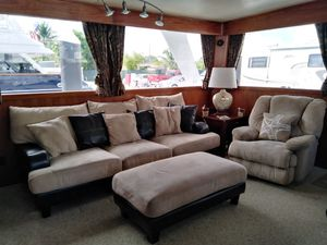 Suede and leather sofa, recliner & ottoman set for Sale in Fort Lauderdale, FL