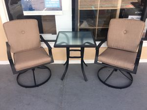 New 3-Piece Outdoor Bistro Set for Patio and Porch, Tan for Sale in Columbia, SC