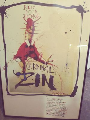 Wine lovers art cardinal zin for Sale in West Palm Beach, FL