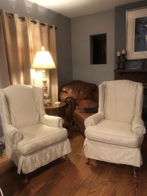 Cream wingback chairs for Sale in Denver, CO