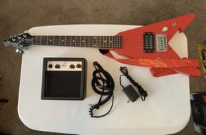 Kids Guitar: First Act Electric Guitar & Power Amplifier - ME279 -1 String is missing for Sale in Cary, NC