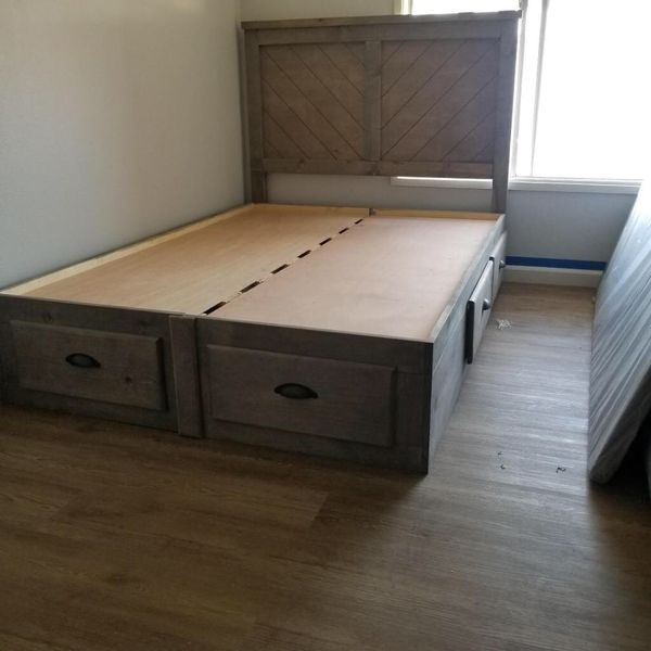 Queen bed frame and mattress included