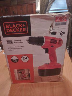 Black & Decker Cordless 18Volt Drill for Sale in Detroit, MI