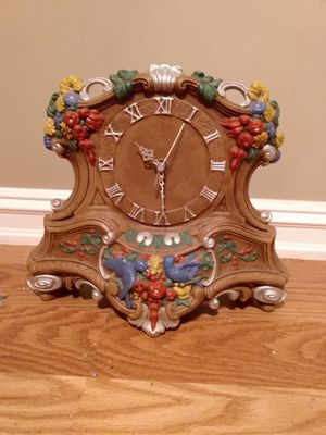 Antique pottery clock for Sale in Tulsa, OK