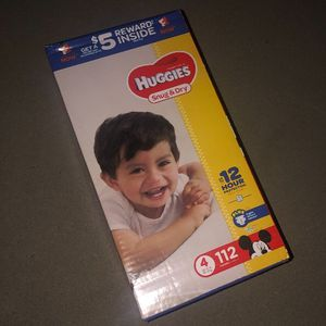 $25, New box Huggies Size 4 Diapers for Sale in Pomona, CA