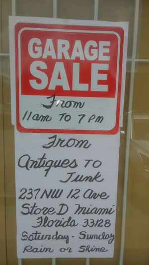 Garage Sale from Antiques to Junk for Sale in Miami, FL