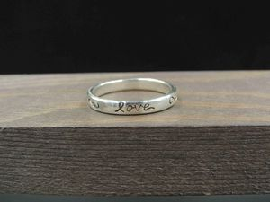 Size 9 Sterling Silver Love Word Band Ring Vintage Statement Engagement Wedding Promise Anniversary Bridal Cocktail for Sale in Bothell, WA