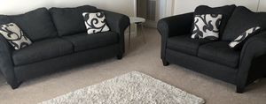 Dark Charcoal Grey Couch Set for Sale in Warner Robins, GA
