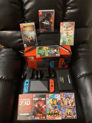 Nintendo Switch 8 Games And 2 Controllers for Sale in Hampton, GA