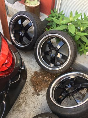 18 inch staggered wheels with tires 5 x120 for Sale in Brockton, MA