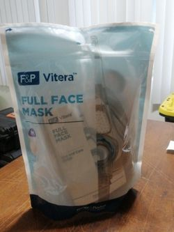 NEW F&P VITERA MASK cushion headgear medium cpap bipap full face for Sale in La Habra Heights,  CA