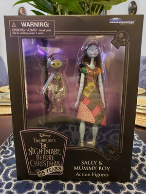 New Disney Tim Burton's The Nightmare Before Christmas Sally & Mummy Boy Action Figures Diamond Select Toys for Sale in Henderson, NV