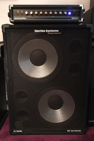 Acoustic B200H Bass Amp & Hartke 215XL Bass Speaker Cab for Sale in Mount Holly, NJ