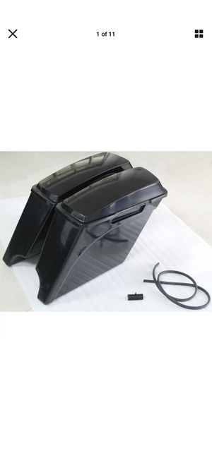 """ABS 5"""" Stretched Extended Hard Saddlebags For Harley Touring 93-13 Unpainted US for Sale in Dickson, TN"""