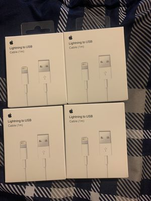4 Original 1m Lightning Chargers for 20$ Blowout Sale for Sale in Hollywood, FL