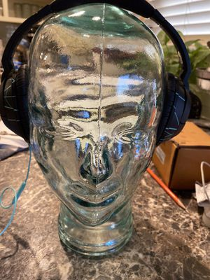 Glass jar heads for desk, hats, headphones, Halloween, everyday for Sale in Santa Fe Springs, CA