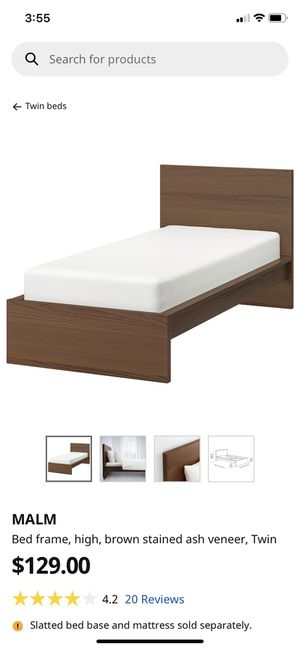 IKEA Malm Twin bed / 2 storage boxes & mattress for Sale in Seattle, WA