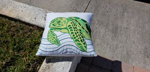 Pillow. Embroidered Turtle ocean decor beach Florida for Sale in New Port Richey, FL