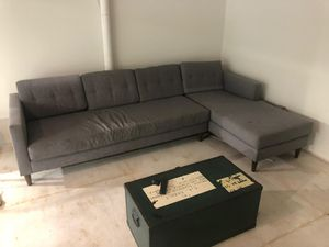 Section modern couch - grey fabric for Sale in Torrance, CA