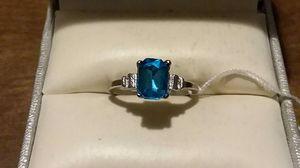 Brand New Fashion Blue CZ Diamond Ring. for Sale in Pawtucket, RI