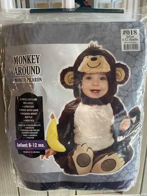 Infant Monkey Costume 6-12 Mo. for Sale in Fresno, CA
