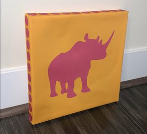 Rhino Canvas Wall Art for Sale in Lutherville-Timonium, MD