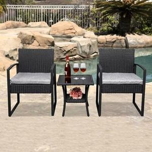 SHIPPING ONLY 3 Piece Patio Furniture Bistro Set w/Table and Chairs for Outdoor Areas for Sale in Las Vegas, NV