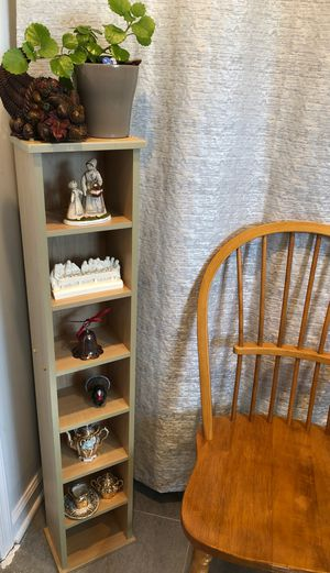 "SMALL WOOD SHELF W/ 7 SHELVES. 46""H x 9""W x 6""D. for Sale in Fairfax, VA"