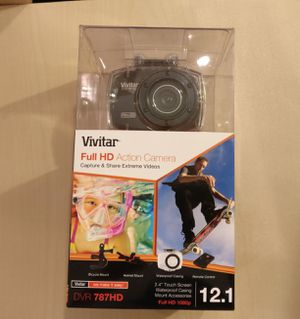 Vivitar Full HD Action Camera with Accessories for Sale in Houston, TX