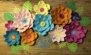 Moana paper flowers for Sale in Chelsea, MA