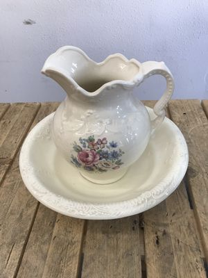 Large Ceramic Bowl and Pitcher for Sale in Santa Ana, CA