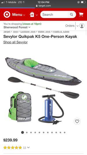 Seylor QuickPak k5 Kayak for Sale in Palmdale, CA