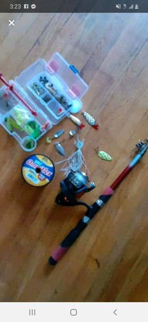 Telescope fishing pole and tackle for Sale in Elizabeth, NJ