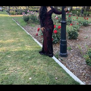 Beautiful Elegant Prom Dress, Burgundy&Black, Size L for Sale in Jurupa Valley, CA