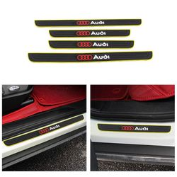 BRAND NEW 4PCS AUDI YELLOW RUBBER DOOR SILL SCUFF UNIVERSAL for Sale in City of Industry,  CA