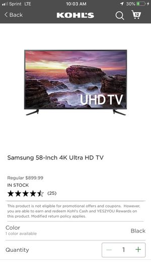 Samsung 58 inch 4k ultra hd tv for Sale in Sanger, CA