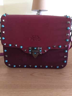 Real leather burgundy color angel polo brand new for Sale in Coconut Creek, FL