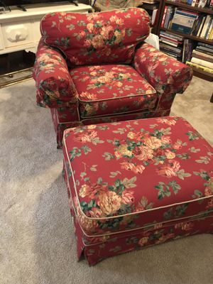 Chair and ottoman for Sale in Bethesda, MD