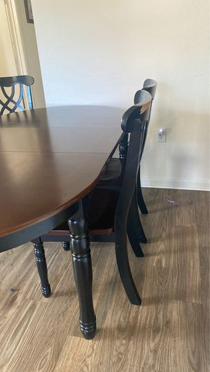 Kitchen table sits 6 comes with 4 chairs for Sale in Crestline, CA