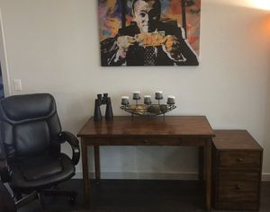 Clean Leather Chair, Desk, and Filing Cabinet for Sale!! for Sale in Seattle, WA