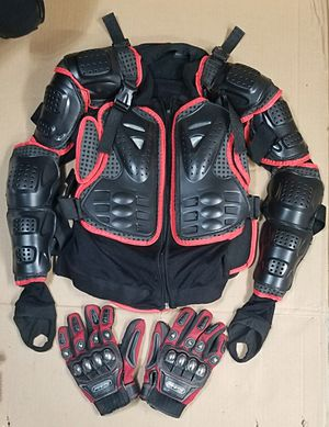 Full Body Armor, Ridding Gear + Gloves, Size M for Sale in Tacoma, WA