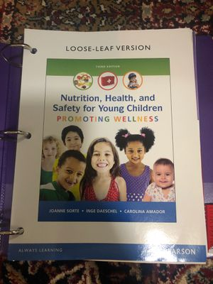 Nutrition, Health and Safety For Young Children Textbook for Sale in Federal Way, WA
