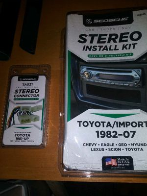 1982-2019 Toyota install kit / harness for aftermarket stereo New for Sale in Tacoma, WA