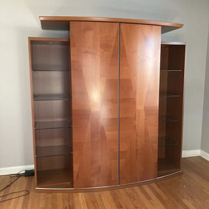 Contemporary Curved Hutch Cabinet (Dania) for Sale in Alsip, IL