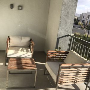 Patio Furniture Set- Teak Wood And Stainless Steel 7 Pieces for Sale in Irvine, CA